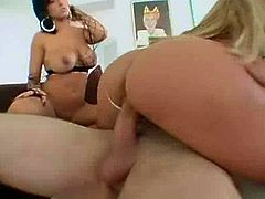 Lichelle Marie and Ricki White sharing a cock