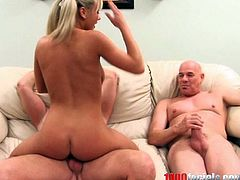 This dirty fucking whore with pigtails sucks on a massive pecker then gets slammed and dude blasts the jizz in her slutty-ass mouth.