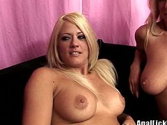 Dirty-minded sexy blondies presented in Pornstar sex clip are surely worth checking out. Torrid gals wear bras and panties. These pretty booty chicks sit on the couch and show their sweet boobs with pleasure.