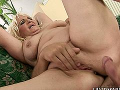 Still great lover but old blond whore rides a strong dick passionately