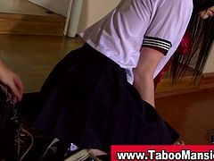 If you're into BDSM cum inside and check out this insane video where a innocent looking schoolgirl is tied up by her master, in different awkward positions.