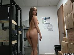 Get in the storage room to have fun with the exquisite babe Kylie Kane in this POV vid with blowjobs and hardcore sex.