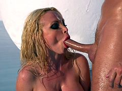 Oiled blonde fuck in her asshole like pervert