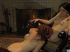 Mina has some problems with her fiance and she finds refuge between the legs of her hot friend Lucy. She eats her cunt without stopping making her really wet.