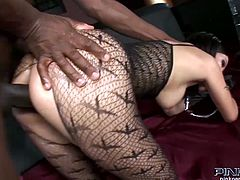 Asian little slut Asia de Ville is a dirty little whore, She is not afraid of big black cocks,Check out how she is enjoying getting fucked by a massive big black cock.Don't miss it!