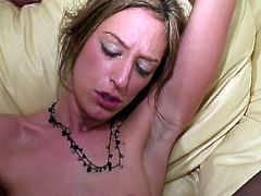 Skinny chick is about to shoot her first anal scene. Watch her sobbing on his big cock and taking it up her tight butthole for a nice cumshot!
