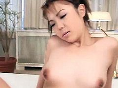 Japanese hairy pink pussy gaped licked and fingered in close-up