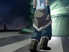 Korra gets a giant cock shoved down her throat by an evil villain. He is wearing a mask so she doesn't know his identity. He pulls his big cock out and sticks it in her pretty mouth. She is choking on his cum and her spit.