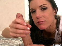 Get a load of this mommy's exceptional body in this hardcoe video where her wet pussy's smashed by this guy's large cock int his hardcore video.