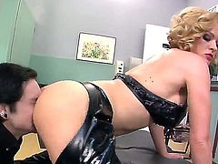 Enslaved pal Deviant Kade spends time with luxurious big ass mistress Krissy Lynn. She orders him to lick her ass and he does it with great pleasure bringing delight to woman.