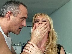 Damn, that hairy snatch of hers looks disgusting. Sex-starved mature woman gets her pussy stretched with a vaginal speculum in the hottest sex scene ever.