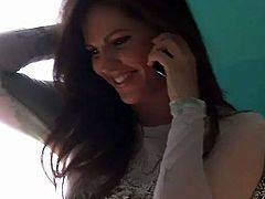Bobbi Star Masturbation During Phone Call Hot!