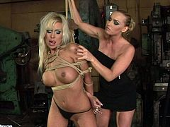 Are you a true fan of bondage? Then check out this spoiled blond heads in 21 Sextury xxx clip. Kinky slim lesbians have a dildo to suck it like a real cock. One bitch is a dominant one and ties up obedient girl with ropes tight.