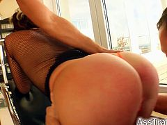 Watch the lovely Gabriella sucking and riding these two dude's cocks from both ends. Then she's ready to get dped before using a dildo to transform that into a triple-penetration!