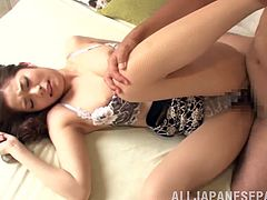 What a girl Natsumi Shirai is! Babe gets naked and takes that thick cock deep in her wet beaver. Babe loves some sensual attitude!