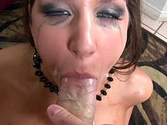 Kiera King gives exclusive POV blowjob and loves to swallow cum