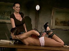 Are you looking for something hot and spicy? You are right here! Hawt mistress ties one sweetie and tortures her using some bdsm thingies.
