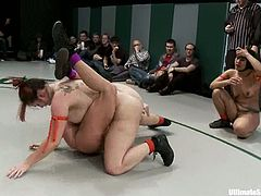 Horny chicks show that they are good wrestlers. They show great skills and willingness to win. But you will probably watch at their asses and boobs.