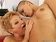 21 Sextury xxx clip is surely worth checking out, cuz you'll cum at once. Spoiled short haired and slim girlie with small tits rides strapon, which bitchie fat ugly oldie wears today.