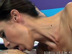 Stunning milfs like Mckenzie Lee is getting huge cock in her mouth, bitch will be forced to suck it in a hardcore style, take a minute to watch it, girl loves to taste cum.