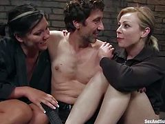 Two delightful and passionate siren Adrianna Nicole and Claire Dames are here to be tortured and fucked hard. Babes are so eager to feel some ridiculous pain!