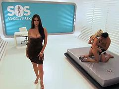 Sexy pornstar Tera Patrick conducts a sado-masochism lesson between a hot blonde and a handsome guy.