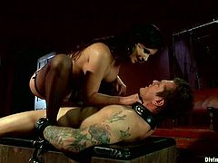 Brunette Phoenix Marie Banging a Dude's Ass in Pegging Femdom Vid