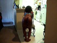 Black girl is dancing really sexy