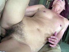Kinky short and black haired nympho with still flossy rounded ass desires to get her mature hairy cunt polished doggy tonight right on the floor. If you love slutty cougars, then welcome to enjoy this 21 Sextury xxx clip.