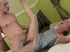 This extremely perverted granny has tried various sex positions but her favorite position is good old missionary style. Check out this old vs young sex scene and get ready to cum.