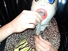 Cum Filled Condom 11, Cumshot, Semen, Bukkake, Mask, Latex