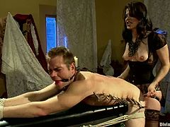 Bobbi Starr is going to strapon fuck a guy, torture him and face sit him in this femdom video where she shows him who the boss really is.