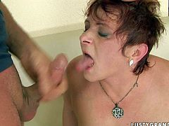 Immense ruined red-haired mature hops on pony looking dad in cowgirl style before she bends over a couch for a drill from behind. Later she exposes her mouth for shots of hot sperm in sizzling hot sex video by 21 Sextury.