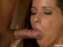 Hot sex in the kitchen with a smoking hot girl Angel Dark