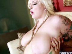 Watch the chubby and tattooed blonde slut Jes Craven as she sucks and rides a big black cock in this amazing interracial hardcore video. Her tits bounce til she cums!
