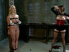 Have been searching for a nice lesbian BDSM video for a long time? Then you've found it! Dia Zevra is making Maitresse Madeline feel so trashed and humiliated after this fetish session!