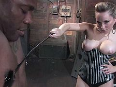 Some hardcore BDSM session with a lusty and sexy blond mistress Aiden Starr, who is dominating over Jack Hammer. That shit is so tough to watch!