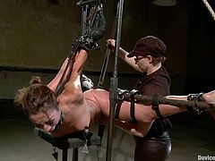 Poor Amber Rayne gets tortured just as she likes