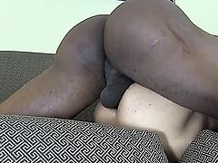 Big black dick attacks small willing ass RAW