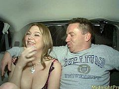 Caucasian hooker with big natural boobs is screwed bad missionary style. The guy cum in her mouth and onto her big tits.