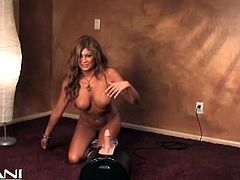 Lisa Daniels is a busty brunette milf ready to misbehave riding a sybian into heaven with her tight pink clam. Watch her tits bounce as she makes her pussy explode of pleasure!