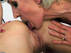Two lesbians polishing each others anal hole and pussies are waiting for you in hot 21 Sexture porn tube scenes. Mature one tickles clit of amateur one and makes her orgasm.
