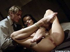 Appetizing and horny babe Aletta Ocean needs to be punished for her bad behaviour. Horny stud puts his skills to the test giving every kind of kinky punishment to this cutie. He fingers her fanny tenderly and sensually pushing her to the edge of powerful orgasm.