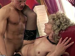 Solid built handsome dude Tony is seduced by hussy jade Magarette. She has got small tits and hairy clam. Thirsty guy eats bushy wet pussy before pounding hard missionary style.