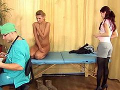 Gaping amateur MILF in stockings in the clinic is what this horny and freaky doctor is all about. He welcomes the hottest cunts in town and lets the world see what's inside them to the extremes.