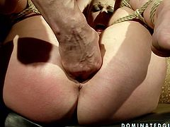 She is dirty slut with filthy fantasies. She loves playing role of sexual tortures victim. So she begs her man to tie her up and fuck hard while she can not move at all.