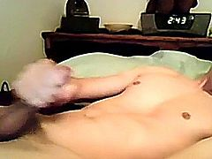 Damien has filmed movies with other guys but this time he's flying solo with a warm wank off session (gay clip of)