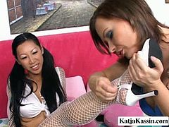 Dude, don't pass by this a bit mad about torrid Pornstar lesbian sex clip. Spoiled long legged brunette housewife with natural tits rubs Asian gal's soaking cunt with her feet right on the bunk bed and causes her to moan loudly of delight.