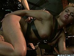 If you are into girls with big tits then this awesome sex video is worth your attention. Damn there's so much passion between these lesbians! Brunette temptress in leather boots spreads her legs wide to let her girlfriend poke her snatch with a dildo.