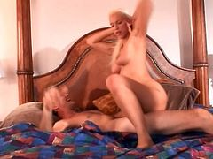 A hot fucking blonde bitch sucks cock and fucking gets her vagina stuffed with hard motherfucking cock, check it out! It's hot!